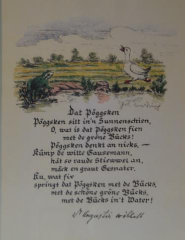 Datt Pöggsken Das Wohl Bekannteste Gedicht Von A Wibbelt
