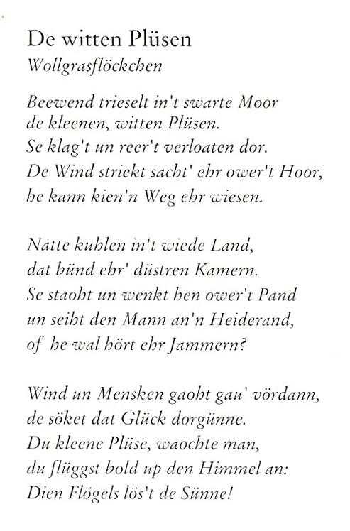 Gedicht Auswahl Von Christa Brinkers Watt Up Platt